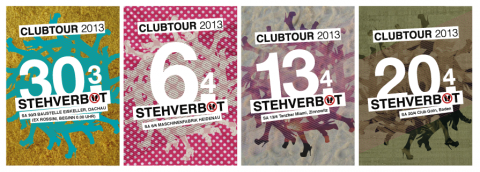 STEHVERBOT CLUBTOUR 2013, Larule, Flyerdesign