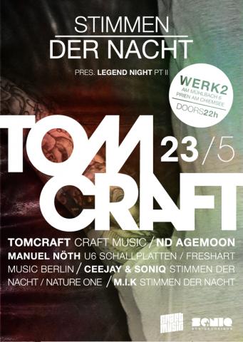 Flyer | Stimmen der Nacht, Legend Night Part II, Tomcraft